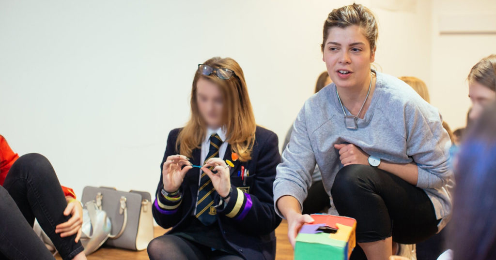 High School pupils take part in creative writing and arts activities with poet Leyla Josephine
